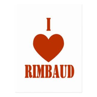 Carte Postale J'aime Rimbaud