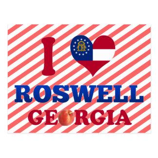 Carte Postale J'aime Roswell, la Géorgie