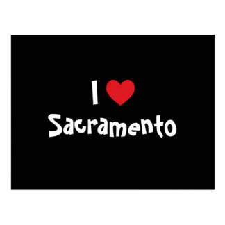Carte Postale J'aime Sacramento