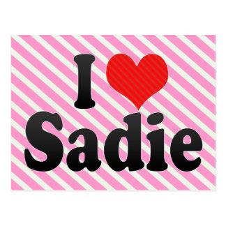 Carte Postale J'aime Sadie