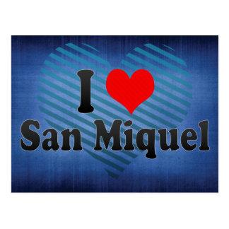 Carte Postale J'aime San Miquel, Salvador