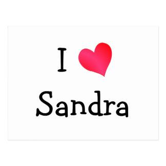 Carte Postale J'aime Sandra