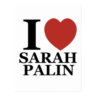 Carte Postale J'aime Sarah Palin