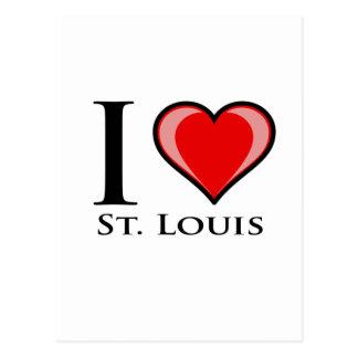 Carte Postale J'aime St Louis