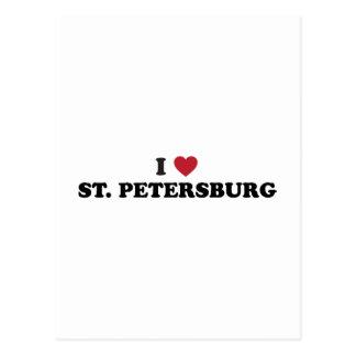 Carte Postale J'aime St Petersburg la Floride