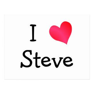 Carte Postale J'aime Steve