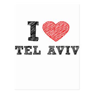 Carte Postale J'aime Tel Aviv