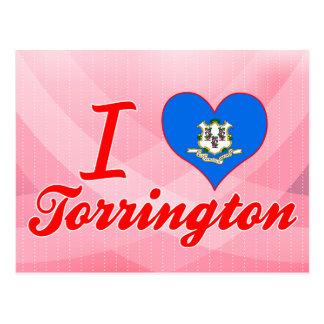 Carte Postale J'aime Torrington, le Connecticut