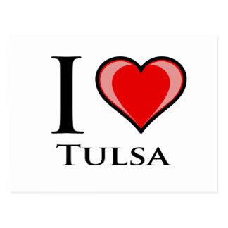 Carte Postale J'aime Tulsa