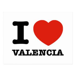 Carte Postale J'aime Valence