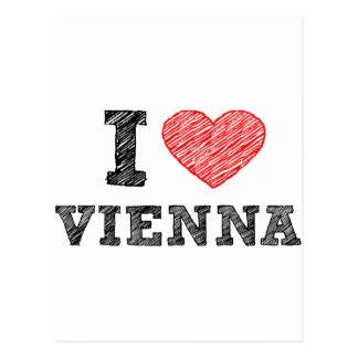 Carte Postale J'aime Vienne