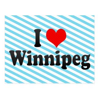 Carte Postale J'aime Winnipeg, Canada