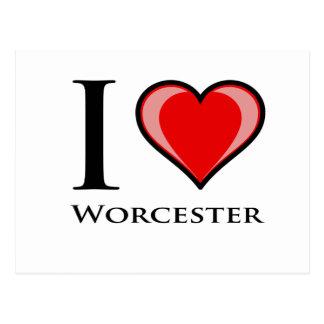 Carte Postale J'aime Worcester