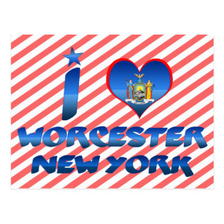 Carte Postale J'aime Worcester, New York