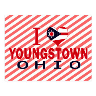 Carte Postale J'aime Youngstown, Ohio