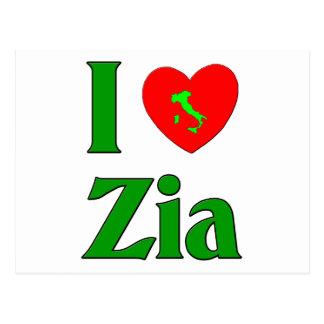 Carte Postale J'aime Zia