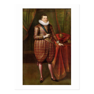 Carte Postale James VI de l'Ecosse et I de l'Angleterre