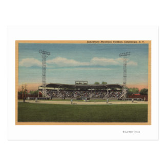Carte Postale Jamestown, NY - stade de base-ball municipal