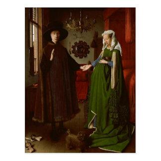 Carte Postale Jan van Eyck (CA 1390-1441) l'Arnolfini Portrai