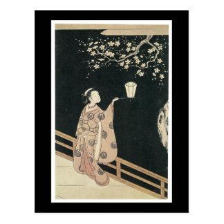 Carte postale japonaise antique d'art