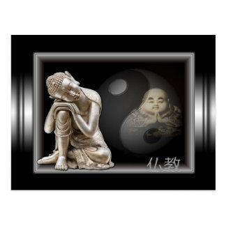 carte postale japonaise bouddha