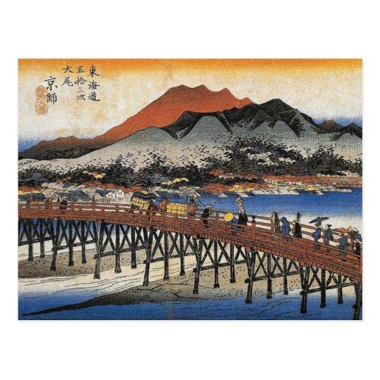 Carte postale japonaise vintage d'art d'aquarelle | Zazzle.fr