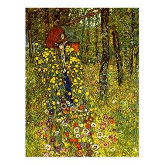 Carte Postale Jardin avec le crucifix par Gustav Klimt