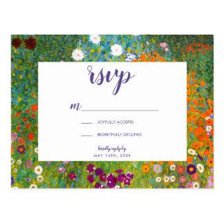 Carte Postale Jardin d'agrément par Gustav Klimt RSVP floral
