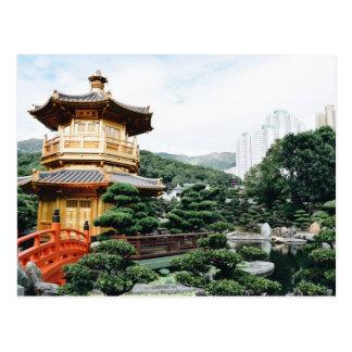 Carte Postale Jardin de Hong Kong Nan Lian