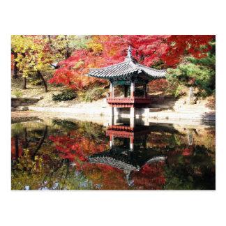 Carte Postale Jardin de Japonais d'automne de Séoul