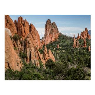 Carte Postale Jardin des dieux dans le Colorado coloré