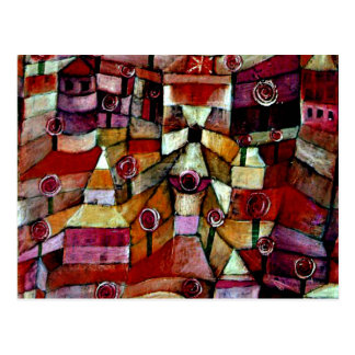 Carte Postale Jardin d'Ose, peinture de Paul Klee