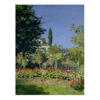 Carte Postale Jardin fleurissant de Claude Monet | chez