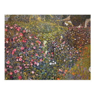 Carte Postale Jardin italien par Gustav Klimt