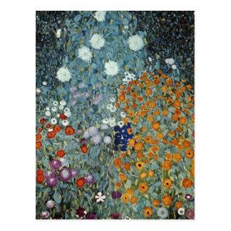 Carte Postale Jardin jaune de pays, fleurs de Claude Monet