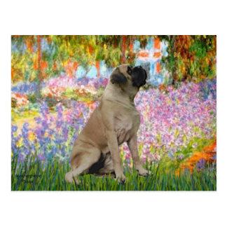 Carte Postale Jardin - mastiff de Taureau #1