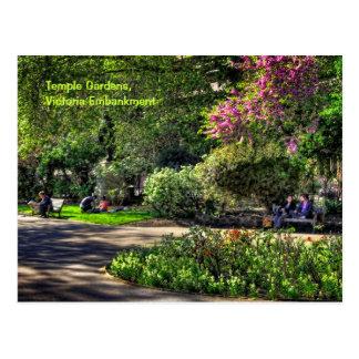 Carte Postale Jardins de temple, remblai de Victoria, Londres