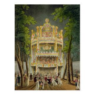 Carte Postale Jardins de Vauxhall, 1808