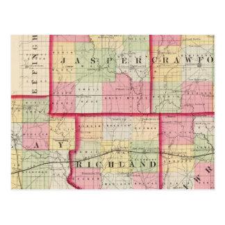 Carte Postale Jaspe, Crawford, argile, Lawrence