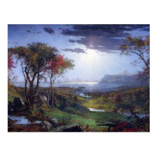 Carte Postale Jaspe Francis Cropsey - automne - sur le Hudson Ri