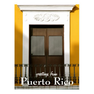 Carte Postale Jaune, salutations de Porto Rico