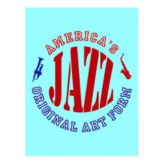 Carte Postale Jazz, forme d'art originale de l'Amérique