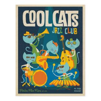 Carte Postale Jazz frais de chats