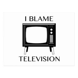 Carte Postale Je blâme la télévision