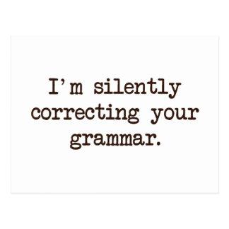 Carte Postale Je corrige silencieusement votre grammaire