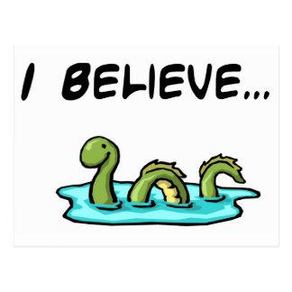 Carte Postale Je crois en monstre de Loch Ness