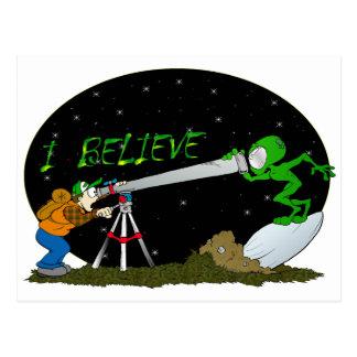Carte Postale Je crois…. UFO