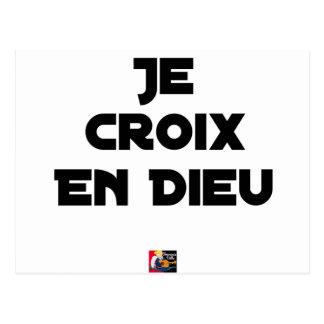 Carte Postale JE CROIX EN DIEU - Jeux de mots - Francois Ville