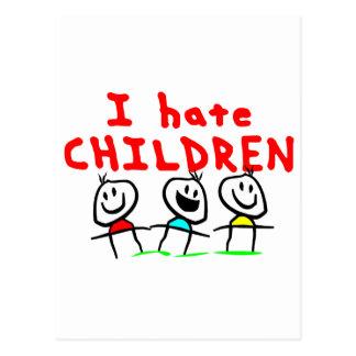 Carte Postale Je déteste des enfants !