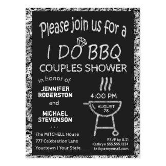 Carte Postale Je fais la douche de couples de BBQ | de |